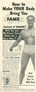 Charles Atlas Fame instead of Shame ad