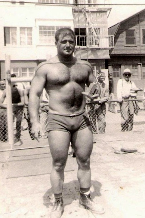 "bill ""peanuts"" west venice beach weightlifting"