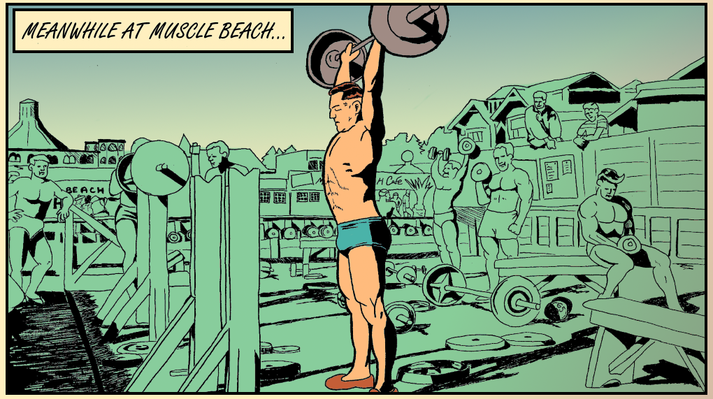 Meanwhile, at Muscle Beach