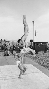 muscle beach acrobatics